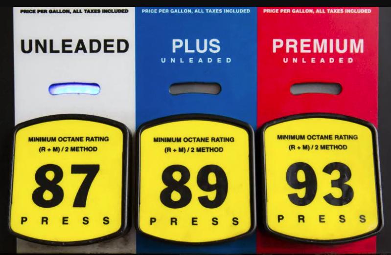 Tipos de gasolina na Flórida
